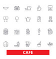 cafe coffee shop street restaurant cafeteria vector image vector image
