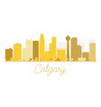 Calgary City skyline golden silhouette vector image vector image