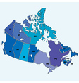 canadian map vector image vector image