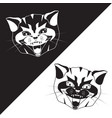 cat head black and white silhouettes vector image vector image