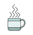colored crayon silhouette of hot coffee cup vector image vector image
