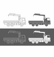 commercial truck crane icon vector image vector image