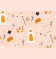 cute childish seamless pattern with bears in the vector image vector image