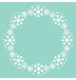 cute snowflakes Christmas winter round frame vector image vector image