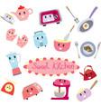 cute sweet kitchen cartoon vector image vector image