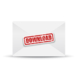 download white closed envelope vector image vector image