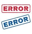 Error Rubber Stamps vector image vector image