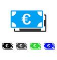 euro bills flat icon vector image vector image