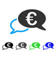 euro chat flat icon vector image vector image