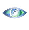 eye looks in the world eye vision logo vector image vector image