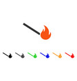 fired match icon vector image vector image