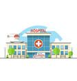 flat hospital vector image