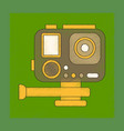 flat shading style icon technology camcorder vector image vector image