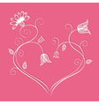 Flower heart with swirls vector image