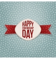 Friendship Day festive Tag and red Ribbon vector image vector image