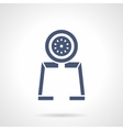 Gauge tool glyph style icon vector image vector image
