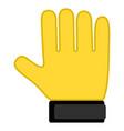 goalkeeper glove icon vector image vector image