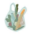 grocery shopping food and drink in plastic shop vector image