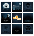 halloween backgrounds collection vector image vector image