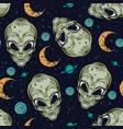 halloween colorful vintage seamless pattern vector image