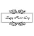 happy mother day gretting card design vector image
