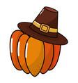 happy thanksgiving cartoon vector image