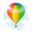 Hot air balloon icon Flat 3d isometric vector image