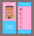 hotel service booklet template with information vector image vector image