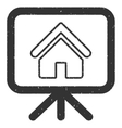 House Project Presentation Screen Icon Rubber vector image