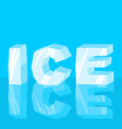 Ice text Cool lettering letters Typography frozen vector image