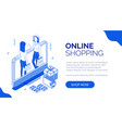 isometric online shopping 6 vector image vector image