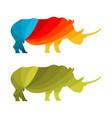 low poly rhinoceros logo vector image