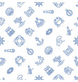 marine blue and white seamless pattern vector image vector image