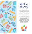 medical research banner vector image vector image