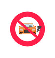 no car or vehicle engine running sign vector image vector image