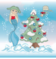 ocean christmas new year color vector image vector image