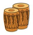 pair musical instrument punjabi drum dhol indian vector image vector image