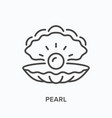 pearl line icon outline of vector image vector image