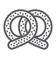 pretzel line icon bakery and food pastry sign vector image vector image