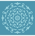 Round flower pattern on blue backround vector image vector image