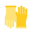 rubber gloves cleaning and laundry service vector image