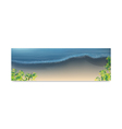 Seascape vacation and travel vector image vector image