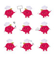 set cute beetroot chef cartoon characters vector image vector image