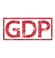 stamp text gdp vector image