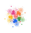 swirly abstract paint spots vector image