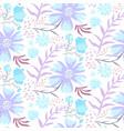 tender blue doodle floral pattern vector image vector image