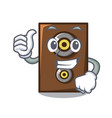 thumbs up speaker character cartoon style vector image