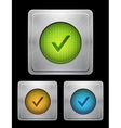 tick phone button vector image
