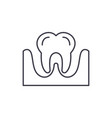 tooth line icon concept tooth linear vector image vector image