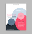 trendy circles pink brochure flyer design vector image vector image